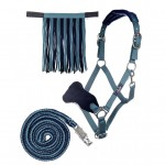 Head Collar, Lead Rope And Fly Fring Set