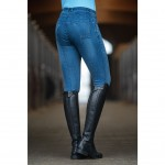 Riding breeches -Denim- silicone-full seat