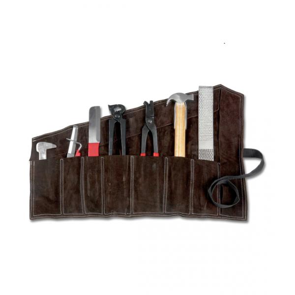 """FARRIER""""S TOOL SET WITH LEATHER BAG"""