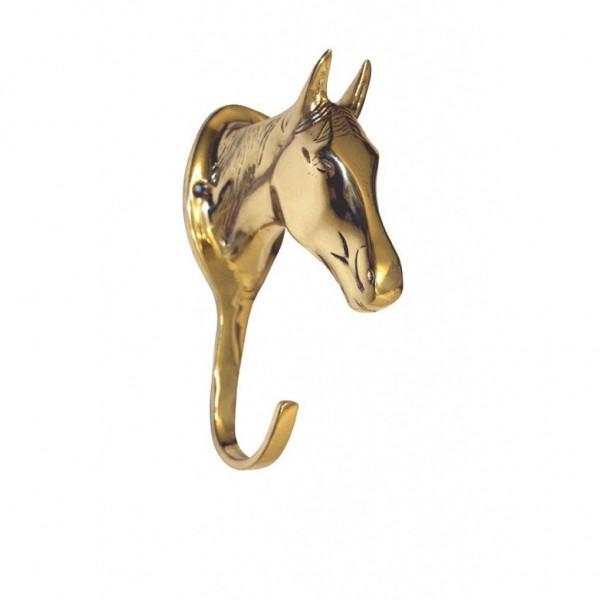 Brass Bridle Hook - Horse Head