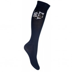 Riding socks -Black & White-
